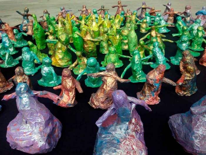 Esculturas realizadas por niños