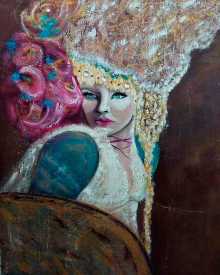 Retrato de una mujer luchadora.
