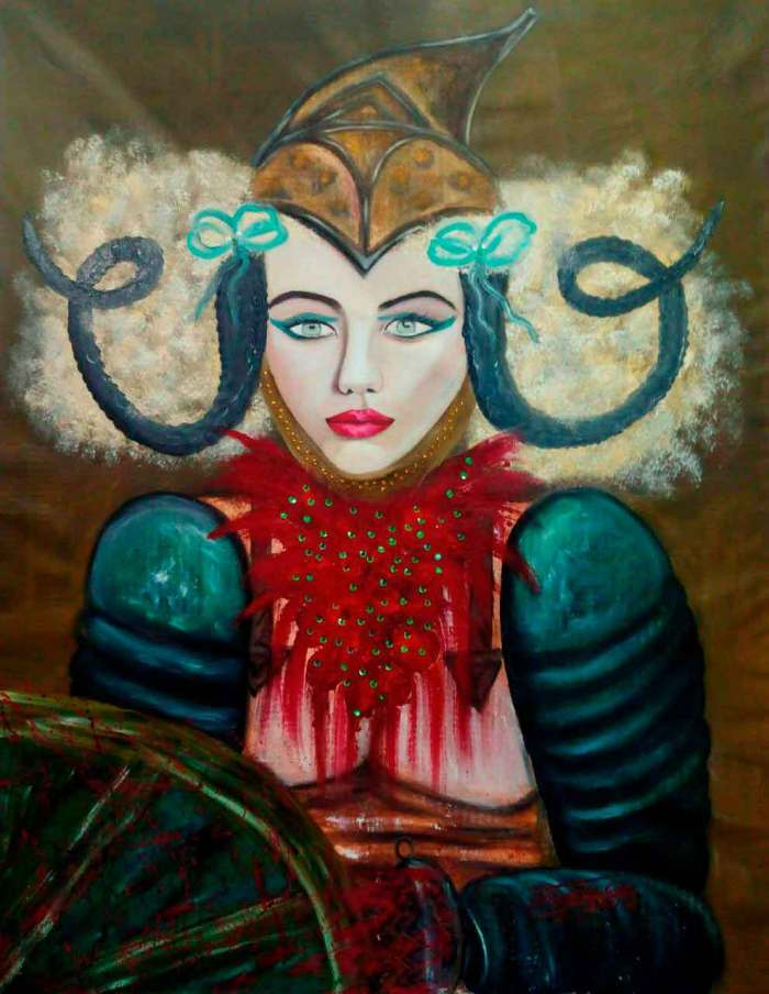 Retrato de una mujer guerrera